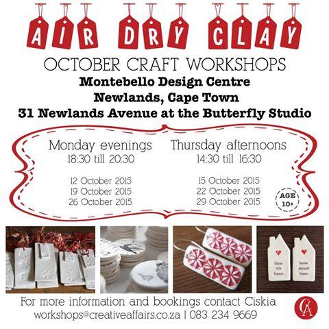 October Craft Workshops